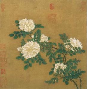 白薔薇 南宋 馬遠