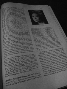 """Eileen Chang in """"World Authors 1950-1970"""""""